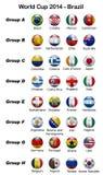 Mundial 2014 - el Brasil Fotos de archivo