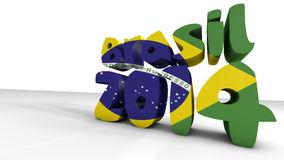 Mundial el Brasil. 3d rinden Imagenes de archivo