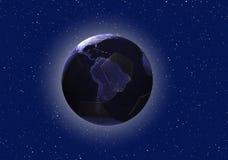 Mundial en el concepto del Brasil (elementos usados de la NASA) Fotos de archivo