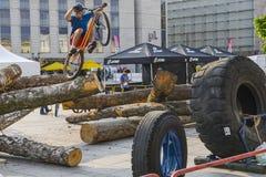 Mundial en las bicicletas de ensayo Fotos de archivo