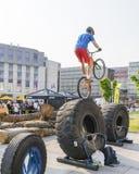 Mundial en las bicicletas de ensayo Imagen de archivo libre de regalías