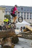 Mundial en las bicicletas de ensayo Imágenes de archivo libres de regalías