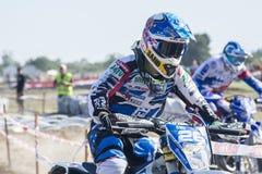 Mundial Enduro Jerez 2015: De Wereldkampioenschap van 2015 FIM Enduro, Jerez de la Frontera, Spanje stock foto