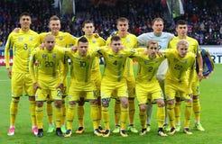 Mundial 2018 que califica: Islandia v Ucrania en Reykjavik Imagen de archivo