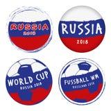 Mundial Rusia de los iconos Imágenes de archivo libres de regalías