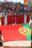 MUNDIALITO - ПОРТУГАЛЬСКАЯ команда Carcavelos 2017 Португалия Стоковое Изображение RF