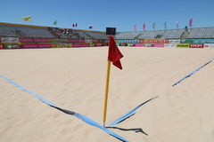 MUNDIALITO Empty field 2017 Carcavelos Portugal stock image