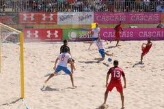 MUNDIALITO - Portugal vs Ryssland Carcavelos 2017 Portugal Royaltyfri Foto