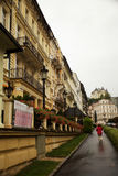 Mundialmente famoso por suas molas minerais, a cidade de Karlovy varie (Karlsbad) Fotos de Stock Royalty Free