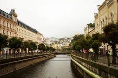 Mundialmente famoso por suas molas minerais, a cidade de Karlovy varie (Karlsbad) Fotos de Stock