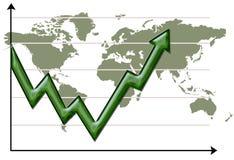 Mundo 7 da seta Imagens de Stock Royalty Free