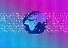 Mundo abstracto técnico del fondo Imágenes de archivo libres de regalías