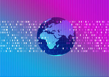 Mundo abstrato técnico do fundo Imagens de Stock Royalty Free