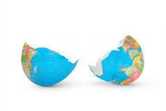 Mundo agrietado Foto de archivo libre de regalías