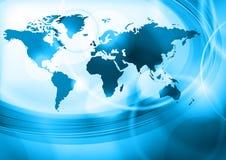 Mundo azul Imagen de archivo libre de regalías