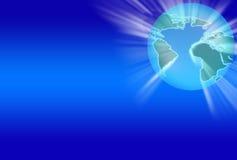 Mundo azul 2 Fotografia de Stock
