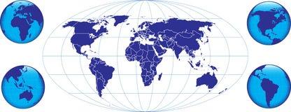 Mundo azul Foto de Stock Royalty Free