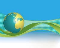 Mundo azul ilustración del vector