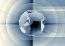 Mundo azul ilustração royalty free