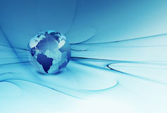 Mundo azul ilustração stock