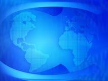 Mundo azul ilustração do vetor
