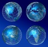 Mundo azul completo Ilustración del Vector