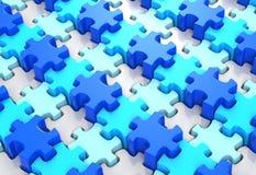 Mundo azul del rompecabezas ilustración del vector
