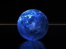 Mundo azul en noche Fotografía de archivo