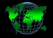 Mundo azul verde Foto de Stock Royalty Free