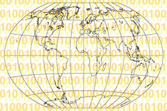 Mundo binário Imagens de Stock