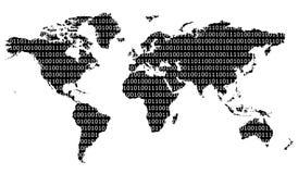 Mundo binário Fotografia de Stock