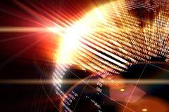 Mundo binário Imagem de Stock Royalty Free