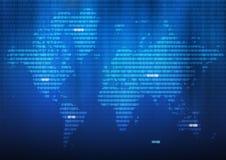 Mundo binário Imagens de Stock Royalty Free