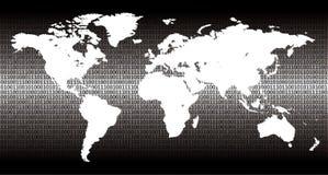 Mundo binário Foto de Stock Royalty Free