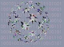 Mundo binario ilustración del vector