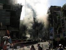 Mundo central en humo Foto de archivo libre de regalías