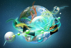 Mundo colorido novo de OLED ilustração stock