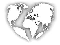 Mundo como corazón Fotografía de archivo