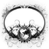 Mundo con el marco adornado Imagen de archivo libre de regalías