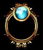 Mundo con el marco adornado Imagenes de archivo