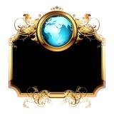 Mundo con el marco adornado Fotografía de archivo libre de regalías