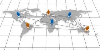 Mundo conectado Foto de Stock