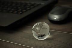 Mundo conectado Conceito social da rede imagens de stock