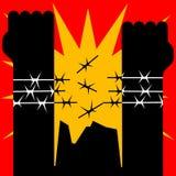 Mundo contra tortura Fotos de archivo