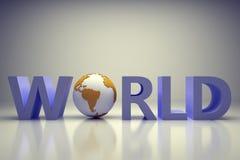 Mundo 3d Imagem de Stock