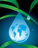 Mundo da água da gota Foto de Stock Royalty Free