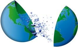 Mundo da água fresca Ilustração do Vetor