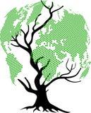 Mundo da árvore Imagens de Stock Royalty Free