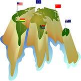 Mundo da bandeira Fotos de Stock Royalty Free