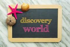 Mundo da descoberta imagens de stock